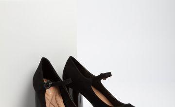 Sole Comfort Black Mary Jane Heels