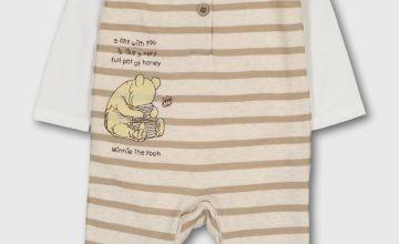 Disney Winnie The Pooh Cream Romper & Bodysuit - Up to 3 mth
