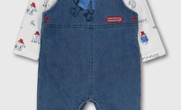 Paddington Blue Denim Dungaree & Bodysuit
