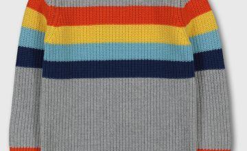 Grey Bright Stripe Jumper