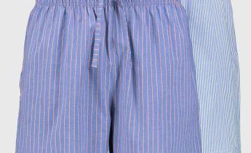 Blue Stripe Pyjama Shorts 2 Pack