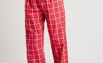 Red Check Woven Pyjama Bottoms