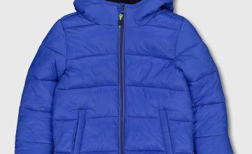 Bright Blue Padded Coat