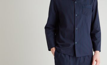 Navy & Red Pinstripe Traditional Pyjamas