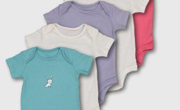 Multicoloured Animal Motif Bodysuit 5 Pack