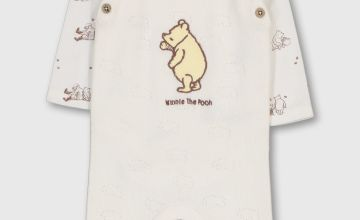 Disney Winnie The Pooh Cream Knitted Dungaree & Bodysuit Set