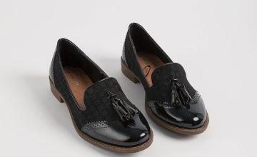 Sole Comfort Black Tassel Floral Detail Loafer - 4