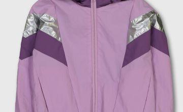 Purple Shower Resistant Active Jacket