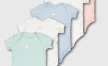 Pastel Unicorn Bodysuit 5 Pack