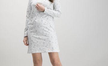 Grey Marl Snowflake Nightdress