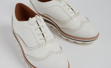 Sole Comfort White Bubble Sole Lace Up Brogues