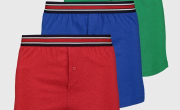 Green, Blue & Red Jersey Boxer 3 Pack