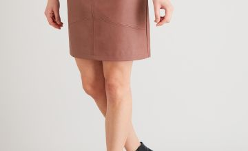 Dusky Pink A-Line Mini Skirt