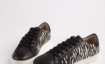 Sole Comfort Zebra Print Trainers