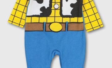 Disney Toy Story Woody Blue & Yellow Sleepsuit