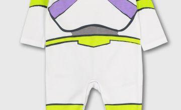 Disney Toy Story Buzz Lightyear White Sleepsuit