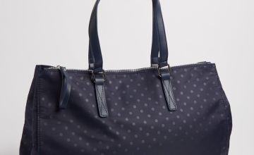 Navy Spotted Shoulder Bag - One Size