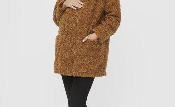 Brown Teddy 2-In-1 Maternity Coat