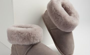 JUST SHEEPSKIN Grey Dove Boot Slippers - S