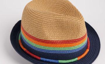 Rainbow Straw Trilby