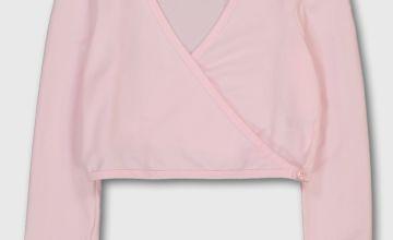 Pink Ballet Wrap Cardigan