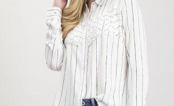 Monochrome Memphis Fringe Western Shirt