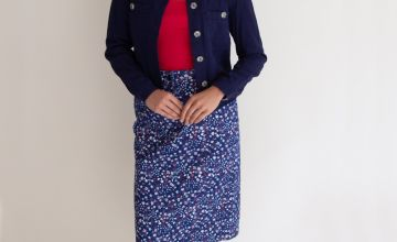 Ditsy Floral Print Twill Skirt