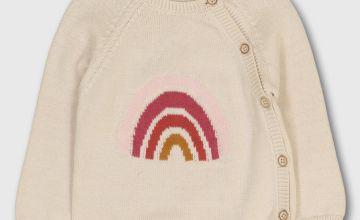 Ecru Rainbow Knitted Cardigan