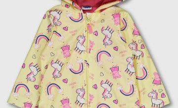 Peppa Pig Yellow Fleece Lined Raincoat