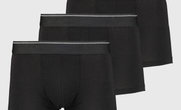 Black & Grey Trim Hipster Briefs 3 Pack