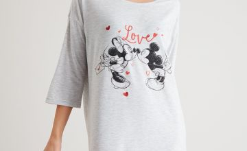 Disney Minnie Mouse Grey 'Love' Nightdress