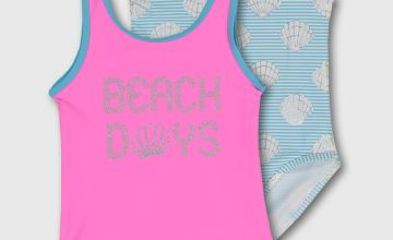 Pink & Shell Print Swimsuit 2 Pack