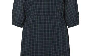 Black Check Print Dress