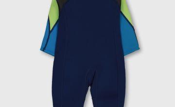 Blue & Lime Long Wetsuit