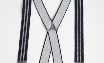 SOPHOS Navy Stripe Braces - One Size