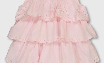 Pink Frill Tier Pointelle Bodysuit - Newborn