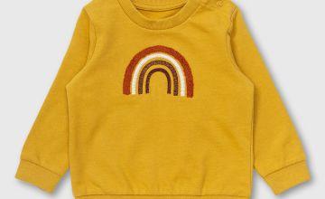Mustard Yellow Rainbow Sweatshirt - Newborn