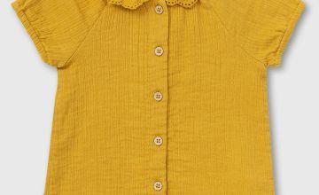 Mustard Woven Top
