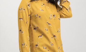 Ochre Deer Print Shirt