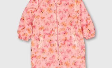 Butterfly Print Lightweight Puddlesuit