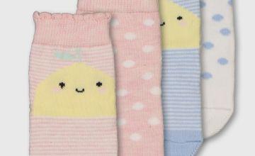 Pastel Fruity Socks 4 Pack