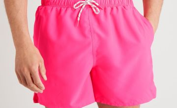 Neon Pink Recycled Swim Shorts