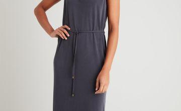Grey Tencel Maxi Dress