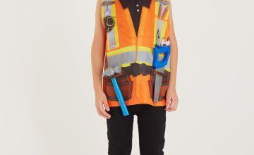 Orange Builder Costume 4 Piece Set