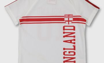 White & Red England Football Shirt