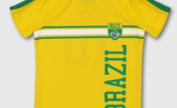 Yellow Brazil Football Shirt