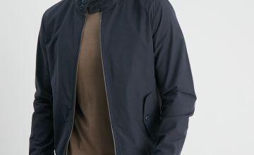 Navy Shower Resistant Harrington Jacket