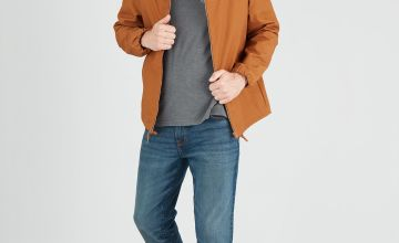 Tobacco Brown Shower Resistant Hooded Jacket