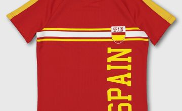 Red & Yellow Spain Football Shirt
