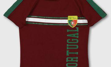 Burgundy Portugal Football Shirt